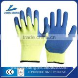 Low Price kevlar Liner with Smart Grip Latex Coating Anti-dust Blue Working Glove for Industry