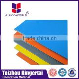 Alucoworld customized acp design plastic honeycomb interior aluminum construction material aluminium composite panel
