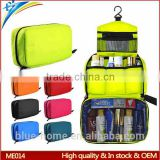 China supplier custom hanging waterproof makeup bag Folding cosmetic organizer pouch with componet