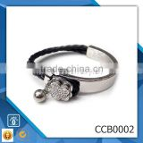 yiwu CC Jewelry CCB0002 hot new products for 2016 wholesale leather bracelet stainless steel