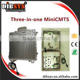 DIBSYS 3 in 1 DOCSIS3.0/2.0 catv optical node Cmts connected with docsis 3.0 cable modem CISCO DPC3825