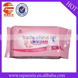 Plastic Baby Wet Wipes Pouch With Sticker/Custom Deisgn Wet Tissue Bag/High Quality Packing Bag