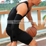 Basketball honeycomb protective shorts protective clothing tight knee-length pants armor pants anti-collision vest quick-drying