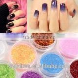 Colorful Flashing Glitter Powders, Available in Gold and Silver Color, Made of PET and Aluminum