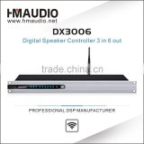 Each channel with 6 bands PEQ and Gain karaoke professional digital audio processor DX3006