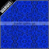 blue flowers new designer style nylon spandex lace fabric with elastic and covering yarn for wedding dress and casual cloting 78