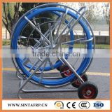 Fiberglass Flexible reinforced rodder ,Fiberglass duct rodder with wheels ,Snake rodder with wheels