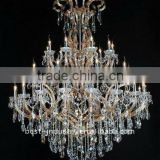 European Crystal Chandelier Light Modern Hanging Chandelier Lamp Lighting For Villa Decoration Lighting MD88118 L27