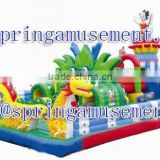 2015 Hot sale Kids outdoor inflatable dragon playground house fun city for sale SP-FC033