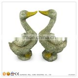Marble Stone Like Garden Decoration Duck Face To Face Statue