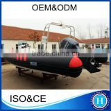 Luxury inflatable boats console rib 730 rigid hull inflatable boat                                                                         Quality Choice
