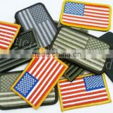 Velcro-back Embroidery US Flag Badge/patch