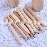 Good quality natural wood colorful pencil for drawing color pen promotional stationery set