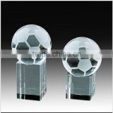 Football Crystal Award, Football Glass Trophy, Football Crystal Plaque, Football Sports Souvenirs