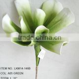 "2015 hot sale artificial colored polyfoam 31"" EVA calla lily stem for home decorations artificial flowers exporter"