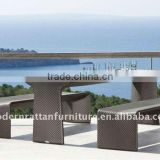 Outdoor Wicker Rattan Bistro Bar Stool Dining Table Furniture Set FCO-028