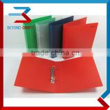A4 A5 size PP clear POLY ring clip binder D shape 2 rings