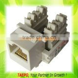 amp 6p4c 6p6c 90 degree cat5e cat6 cat7 modular utp ftp tooless keystone jack