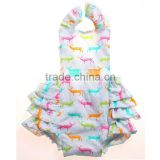 wholesale baby girls chevron clothing sets with ruffle baby girl colorful clothing sets