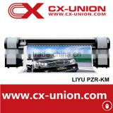 Liyu PZR-KM hot sale 10 feet large format eco solvent roll printer flex banner printing machine with konica head