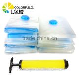 Easy use home storage vacuum plastic packing bag with pump