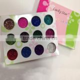 12 Colors pots Nail Glitter Powder Multi color Manicure Nail UV Gel Phosphors Powder for Nail Art Decoration