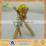 wooden mini baseball bat lucky charm hanging ornarment