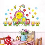 50x70cm Children Room Decorating Classroom Poster Bedroom Smiling Sunflower Wall Sticker DM57-0009