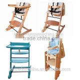 Beech wood baby high chairs