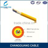 Multi use distribution kevlar indoor fiber cable GJFJV 8 core optical cable