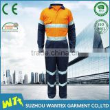 New style hi-visibility oil field coverall reflective welding uniform security working coverall
