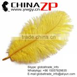 ZPDECOR Wholesale Top Quality Selected from 14''-16'' Cheap Dyed Gold Bulk Ostrich Feather