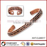 Wave Design Copper Mens Wire Bangle