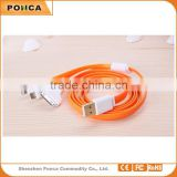 3 in 1 usb cable USB2.0 data cable, flat noodle usb cable for samsung s3 s4 for iphone 5 iphone 6