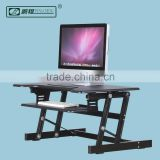 Gas Spring Monitor Keyboard Laptop Rise Preassembled Sit Stand Adjustable Desk Stand Up Computer Desk