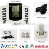 Digital LCD Meridian Therapy Machine Acupuncture Pulse Muscle Massager with A pair of Massage Shoes Set