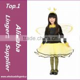retail free shipping girl bee costumes set halloween costume for kids girls insect carnival party performence