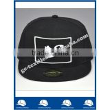 high quality acrylic PMS black snapback sticker 6 panel baseball cap bulk
