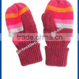 wholesale factory baby kids custom winter warm acrylic gloves