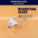 factory prices lenses glass and plastice head magnifier glass examination lamp