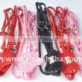 Hot sale leather dog collar chain /dog rops with