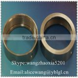 Precision stainless steel/brass/bronze/copper threaded bushing,black pipe reducer bushing,stainless steel screwed bushing