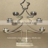 Metal christmas tree votive candle holder