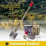 Military Grade Survival Equipment/Emergency Kit/Outdoor Multifunction Shovel,bag,blade,pickaxe,flashlight