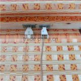 Handmade bordered printed bamboo finished roman curtain