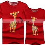Wholesale Cheap Red Colour Print Couple T- Shirt