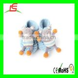 LE A0108 Organic Cotton Booties - Bear knit baby winter shoes
