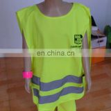 New foldable reflective safety cloth for children