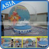 Giant Human Inflatable Christmas / Xmas Snow Globe with Beautiful Backdrop for Wedding Decoration & Promotion
