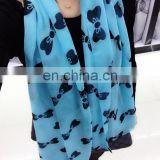 New Spring Chiffon Scarf With Butterfly Pattern
